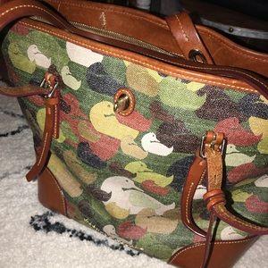 Dooney & Bourke camouflage duck dover tote bag